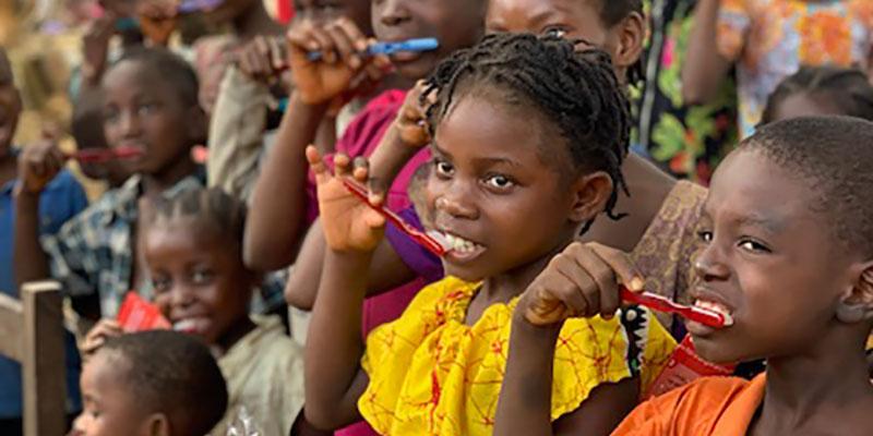 Liberian Children Learn Brushing Tips